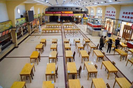 سالن غذا خوری دانشگاه ووهان چین